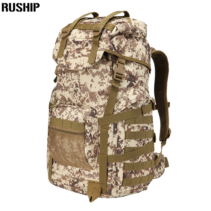 Sac à dos d'épaule tactique imperméable 50L militaire multifonction haute capacité randonnée Camouflage sac de voyage système Mochila Molle