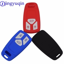 jingyuqin Remote 3 Buttons Silicone Car Key Fob Cover Case Shell Holder For Audi 2016 2017 A4 Allroad B9 Q5 Q7 TT TTS Keyless