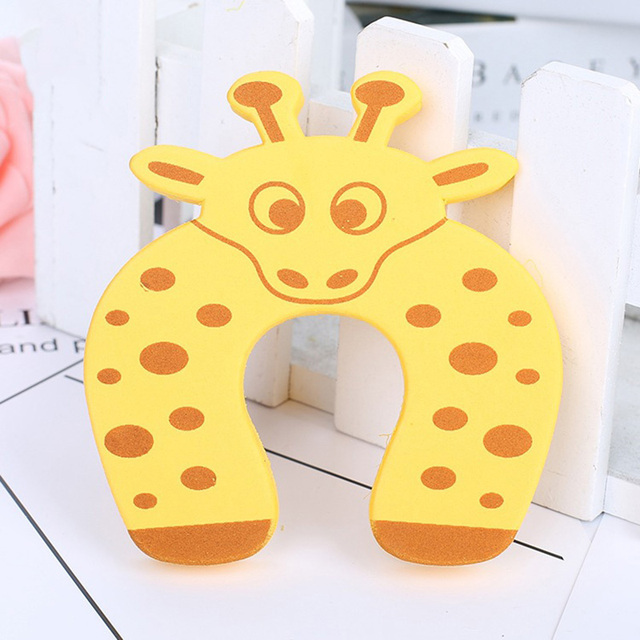 5Pcs Safety Card Stopper Clip Finger Safety Guard Care Products Baby Safety Door Clamp Cartoon Cute Animal Child Kids Door