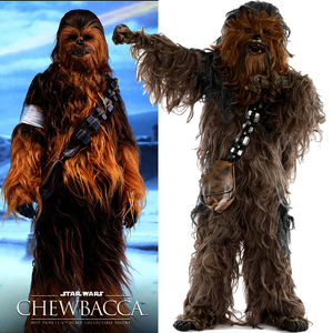 Image 5 - מלחמת הכוכבים Chewbacca קוספליי תלבושות ליל כל הקדושים מסיבת תחפושות חליפת סרבל קסדת כפפות תיק נעל כיסוי