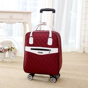Image 3 - 新しい女性旅行荷物スーツケースハンドバッグ、女の子キャビン防水オックスフォードローリングトロリースーツケース、女性キャリーアドオンホイールドラッグバッグ