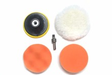 """Free Shipping 5"""" 125mm car wash Car Polishing Pad set Wet Foam Buffing Pads for Car Styling with Drill Adaptor M14"""