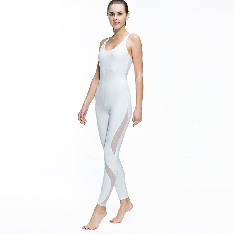 Fitness Sports Women Yoga Tights Mesh Sleeveless Jumpsuit Sexy Ladies Running Gym Dance Flexible Stretch Sport Clothing Suit tights
