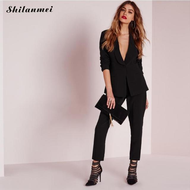 Famoso Abiti eleganti Pantaloni Donna Casual Office Business Suits stile  LG32