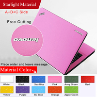 Hot Pure Color Laptop Sticker Waterproof DIY Personality Skins Protective Decal Stickers For Lenovo G500 G505