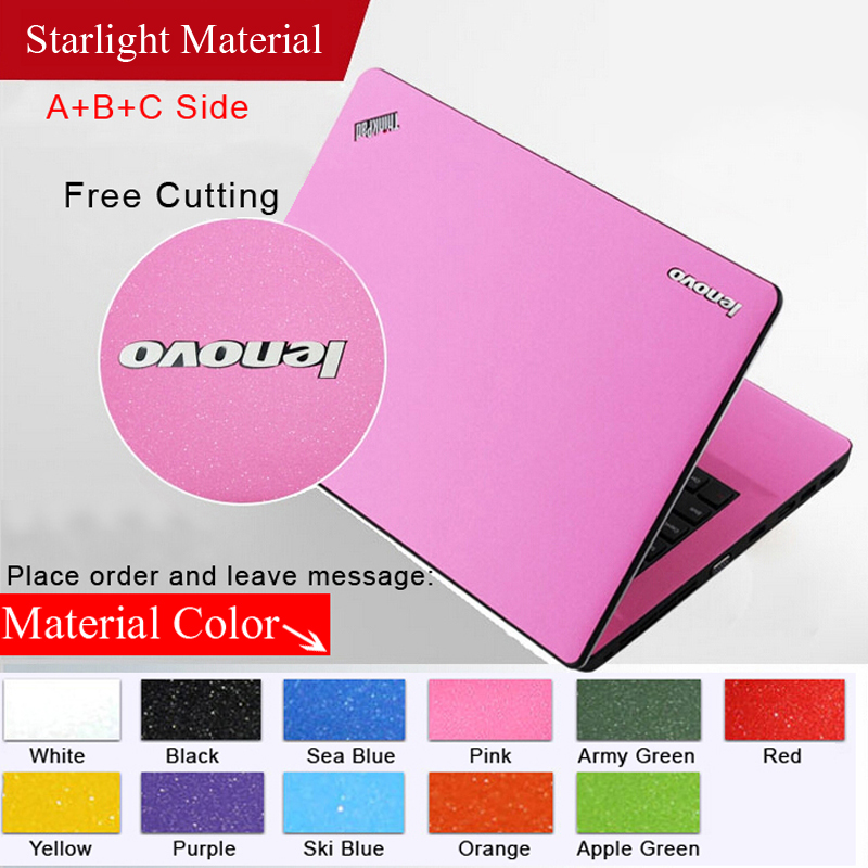 Pure Color Laptop Sticker Waterproof DIY Personality Laptop Skins Protective Notebook DecalFor lenovob465 /N480/ N485/V360/Y450
