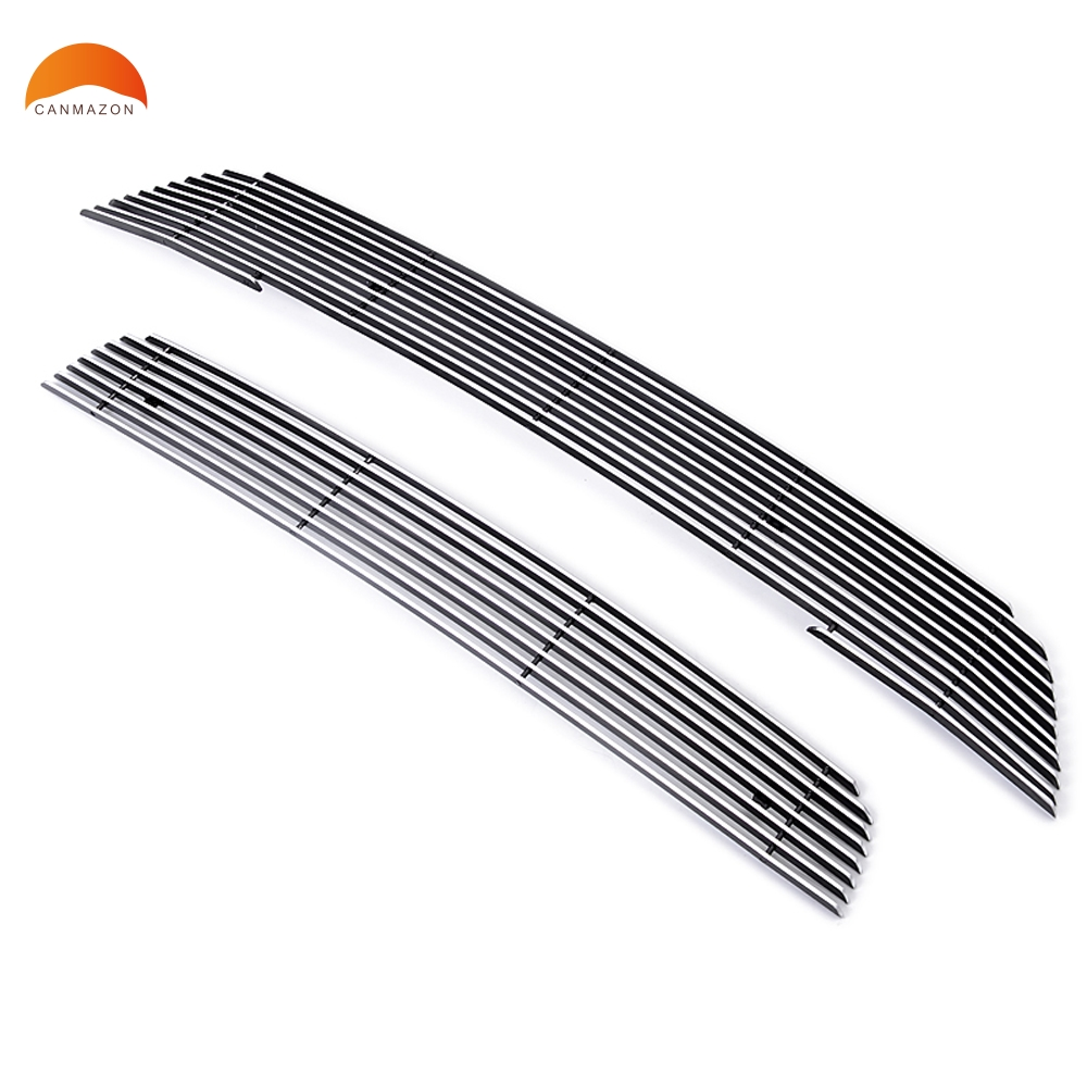For Mitsubishi Outlander 2013 2014 2015 Car Styling Aluminum Alloy Center Grilles Trim Racing Grill Molding Network Frame Trim
