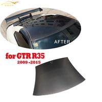 Carbon Fiber Car Roof Top Cover Trim Sticker For Nissan GTR GT R R35 2009 2010 2011 2012 2013 2014 2015 Car Styling