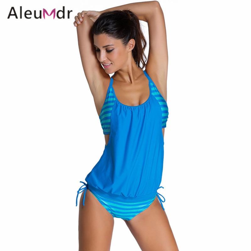 dde42de64e Detail Feedback Questions about Aleumdr 2018 Women Stripes Swimwear Push up  Tankini Top Bathing Suit Swimsuit Plus Size Shorts Bikinis LC41990 Maillot  De ...
