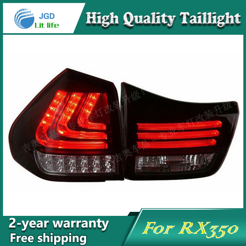 Car LED Tail Light Parking Brake Rear Bumper Reflector Lamp for Lexus RX350 2004-2009 Red Fog Stop Lights Car styling smoke black for lexus rx350 led tail light assembly sonar brand rear lights fit 2009 cars with flashing moving turn lights