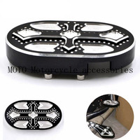 CNC Billet Aluminum Motorcycle Brake Pedal Pad Cover For Harley Sportster XL 883 1200 48 Custom