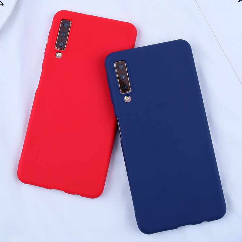 Candy Color Cases For Samsung Galaxy A8 2018 Case Phone Cover For Samsung Galaxy s10 S10E S10 S8 S9Plus A5 A3 A7 2017 J4 J6 Plus-in Fitted Cases from Cellphones & Telecommunications