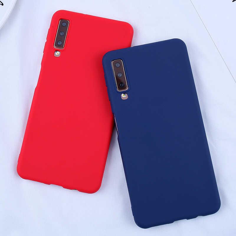 Dulces fundas a color para Samsung Galaxy A8 2018 caso de la cubierta del teléfono para Samsung Galaxy s10 S10E S10 S8 S9Plus A5 A3 A7 2017 J4 J6 Plus