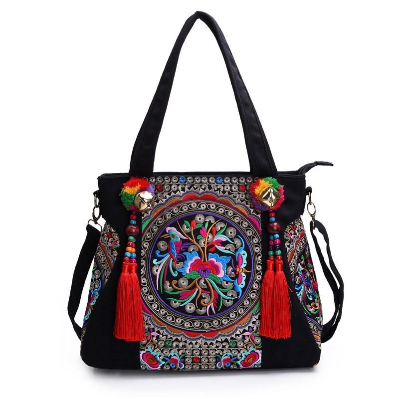 Ethnic Embroidery Handmade Textile Cloth Handbags Vintage Women Shoulder Tote Bags luxury handbags women bags de Bolsa Feminina national chinese style bags embroidery flowers handbags ethnic canvas handmade tote women s handbags sac a dos femme