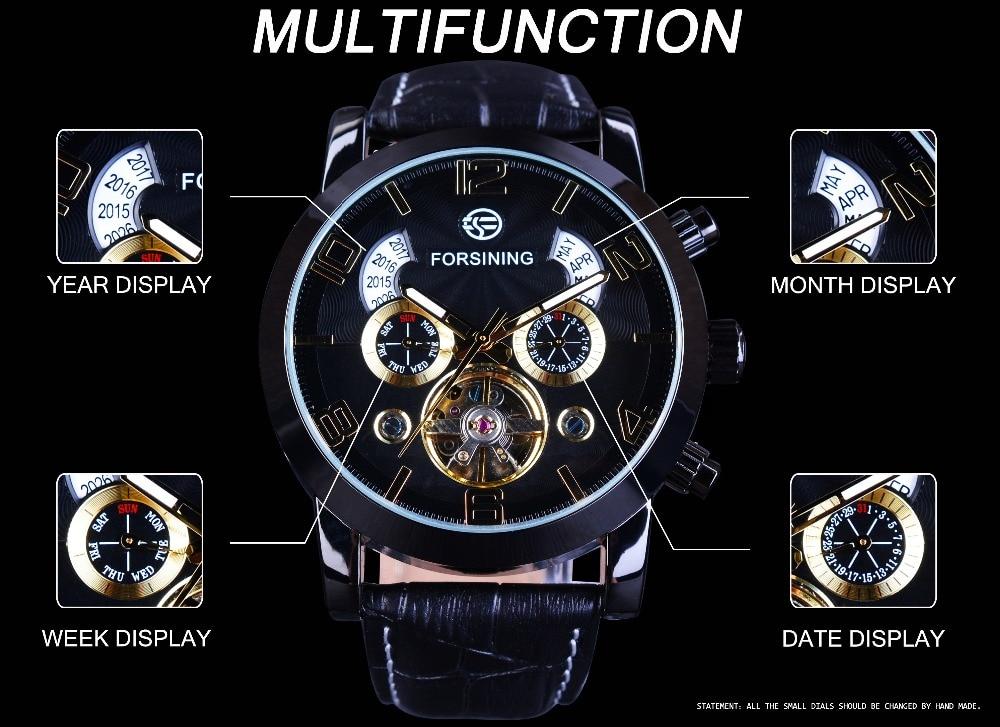 HTB1 NNEqQ9WBuNjSspeq6yz5VXak Forsining Tourbillion Fashion Wave Black Golden Clock Multi Function Display Mens Automatic Mechanical Watches Top Brand Luxury