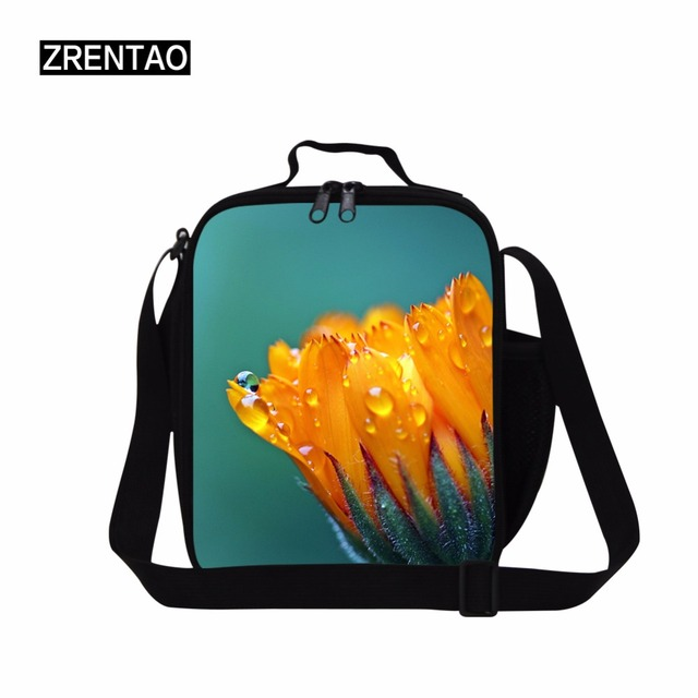 Zao Fashionable Cooler Bags Children Thermal Insulated Double Zipper Lunch For Working Picnic Food
