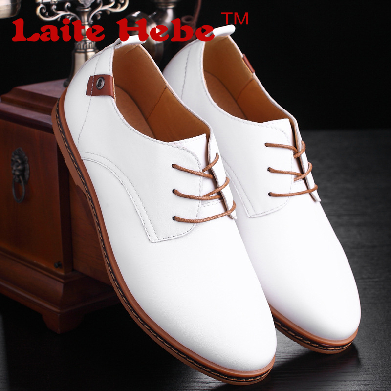 Laite Hebe Men 's PU Leather business Shoes 2017 New High  Quality Casual  Shoes Handsome Simple Work Shoes Lace-Up Men's Shoes new men s business casual leather stage shoes silver retro leather dating personality shoes