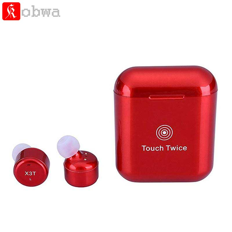 Kobwa X3T Earphone Touch Control Wireless Bluetooth Headset Mini Sport Earphones With Charging Case for xiao mi Smart Phone 2017 new 3 in 1 mini bluetooth headset phone usb car charger escape safety hammer micro wireless earphone for xiaomi mi6 mi 6