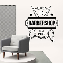 Cartoon barber shop Decal Removable Vinyl Mural Poster For Living Room Bedroom Wall Art MURAL Drop Shipping