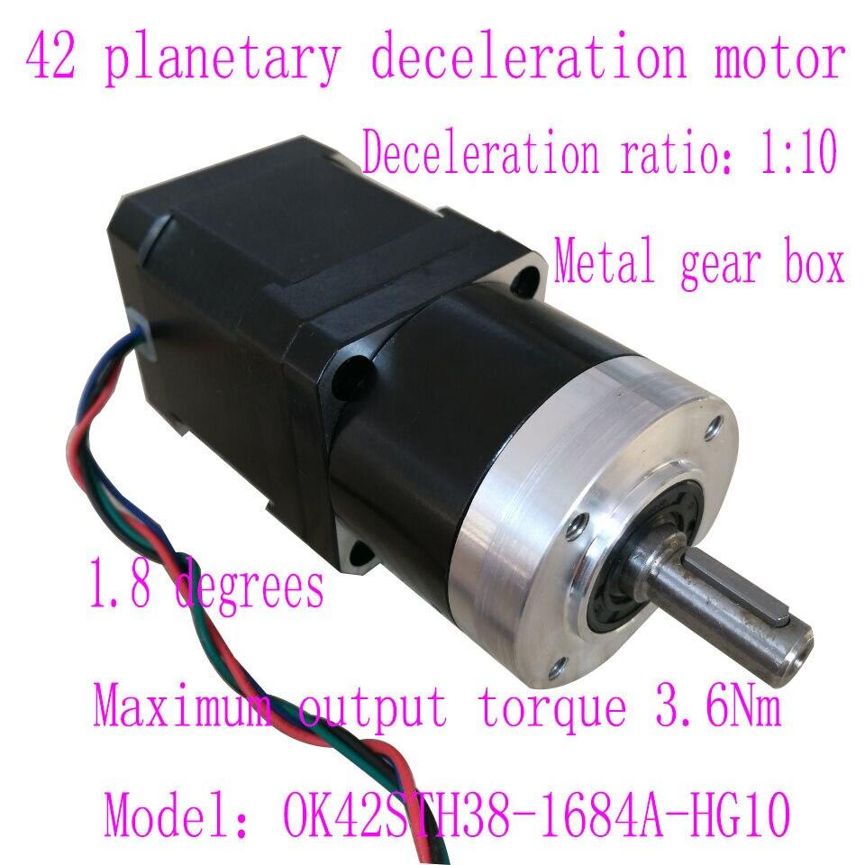 цена на 42 planetary geared motor Speed Ratio 1:10 NEMA17 Planetary Deceleration Motor