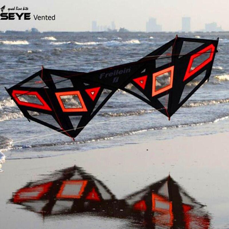 Livraison gratuite de haute qualité 2.4 m forte vent quad ligne stunt conception cerf-volant avec la ligne de la poignée facile contrôle power kite parafoil buggy