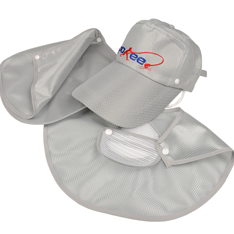 d5f900e05dd7a Anti UV Unisex Outdoor Hollow Fishing Cap w  Removable Neck Cape Breathable  Face Shield fishing hat Quick Drying Sweat Absorbing-in Fishing Caps from  Sports ...