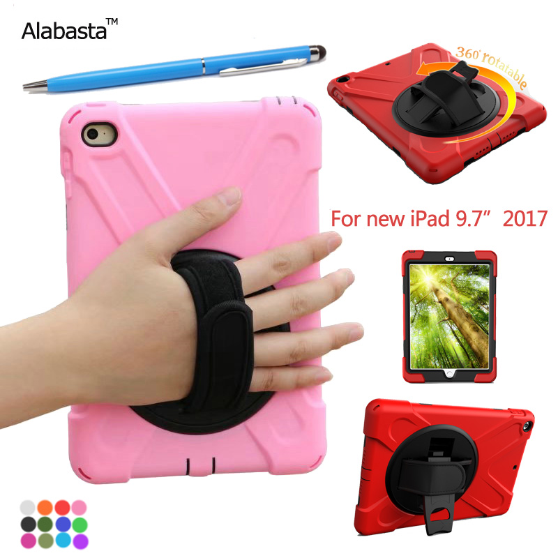 Alabasta Case for New iPad 9.7 2017 Case Cover 360 Degree Rotating Heavy Duty Shockproof Stand Protective Cover model A1822 alabasta case for new ipad 9 7 2017 case