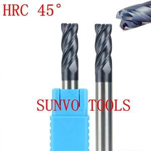 Image 2 - R0.2 R0.5 HRC65 Carburo di Tungsteno Carburo di Tungsteno di CNC di Fresatura Naso Raggio Frese e taglierine per micro SIM Utensili di Fresatura, Fresa in metallo duro, HRC50