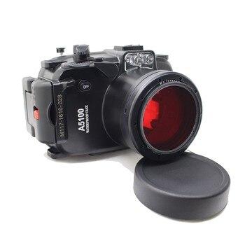 Meikon 40M Waterproof Underwater Camera Housing Case for Sony A5100 16-50mm Lens