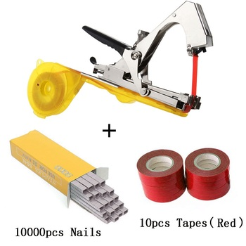 ALLSOME Plant Branch Tapetool Tapener Tapes Garden Tools Plant Tying Packing Vegetable Stem Strapping with 10 Roll Tapes HT2606 - Spain, set 2