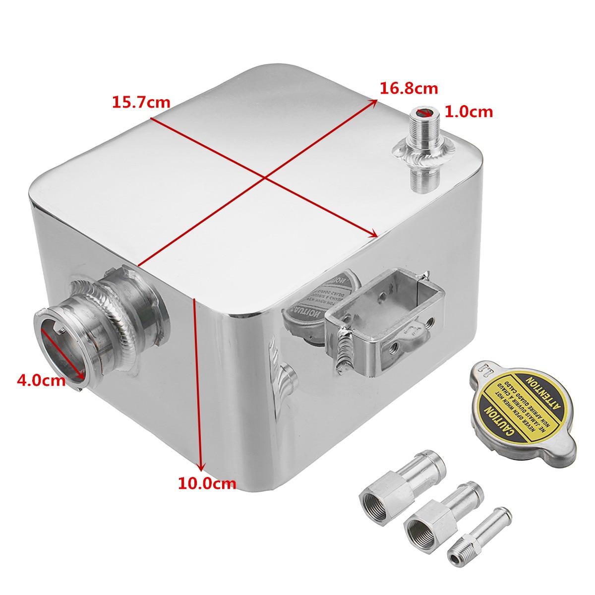 2.5L alliage aluminium réservoir d'eau liquide de refroidissement universel réservoir de débordement réservoir Kit refroidisseur Automobile voiture arrosoir vase d'expansion - 4