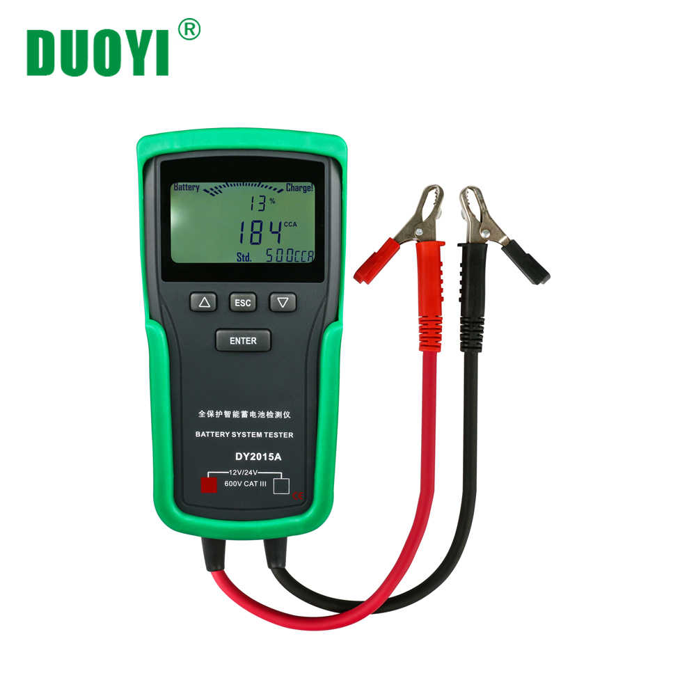 small resolution of duoyi dy2015a 12v 24v car battery tester analyzer lead acid cca load battery charge testdigital automotive