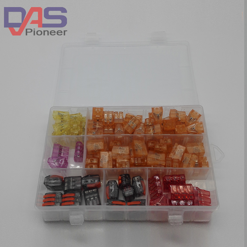110PCS cable  connector for 3 rooms mixed 7 models Compact Fast Conductors Terminal Block boots terminals quick wiring sommer cable monolith1 compact combi cable