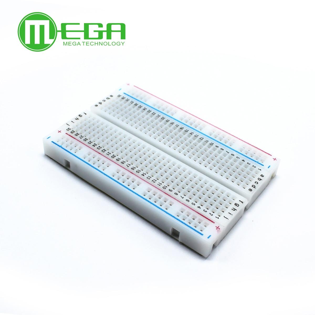 Solderless Breadboard Mini for DIY 83x55-Mm 400-Tie-Point Crystal