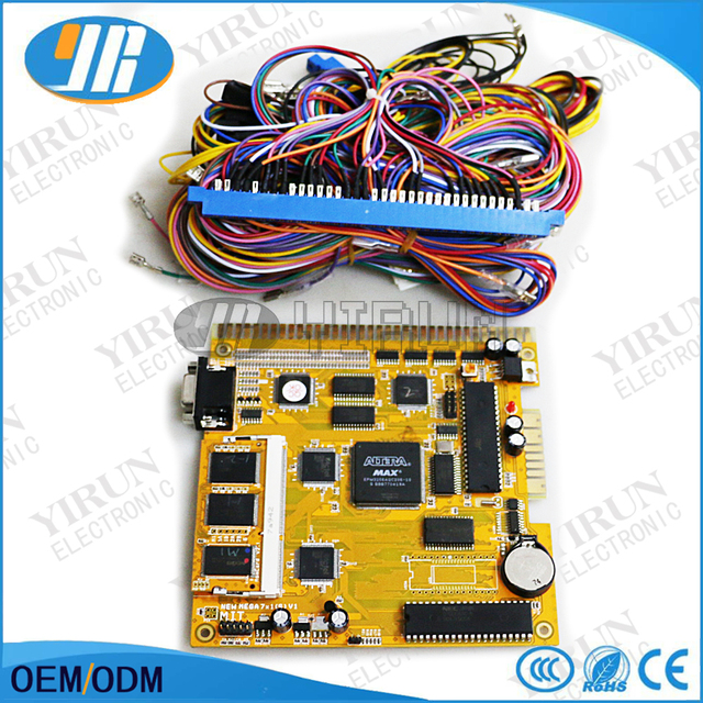 new mega 7 in 1 s v1 slot game board with 36 10 pin wiring harness rh aliexpress com wiring board for carrier infinity system