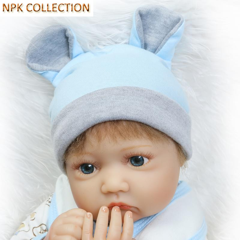 NPKCOLLECTION 20 Inch Real Dolls Reborn Babies Silicone Baby Doll Soft Toys for Children,50CM Silicone Reborn Dolls Baby Alive silicone reborn dolls baby alive doll soft toys for children christmas gifts 15 inch real reborn babies bonecas newborn dolls