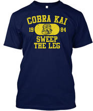 T Shirt Quotes Cobra Kai Vintage Motto 1984 Crew Neck Broadcloth Short For Men