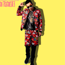 S-4XL ! Men's new fashion Lips Personality Baseball Jacket singer costumes stage plus size Performance clothing