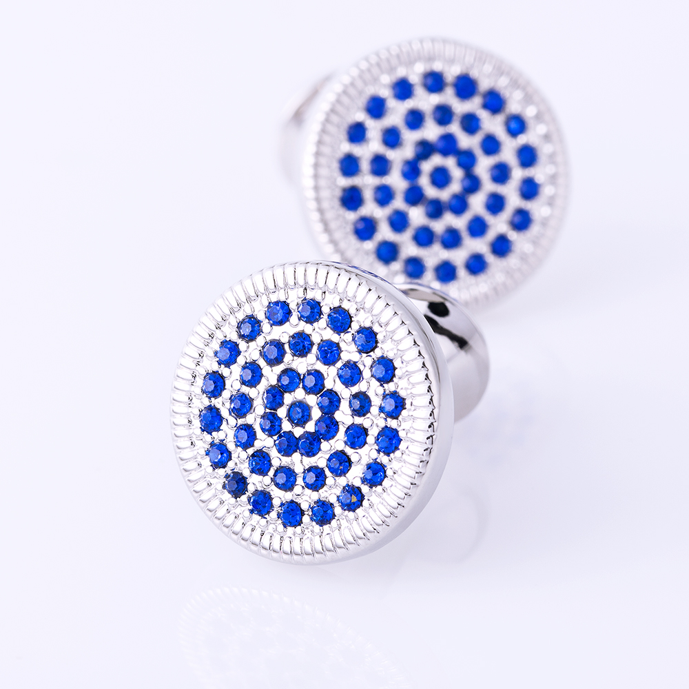 Kflk Jewelry Round Shirt Cufflinks For Men Gift Brand Cuff Button - Fashion Jewelry - Photo 6