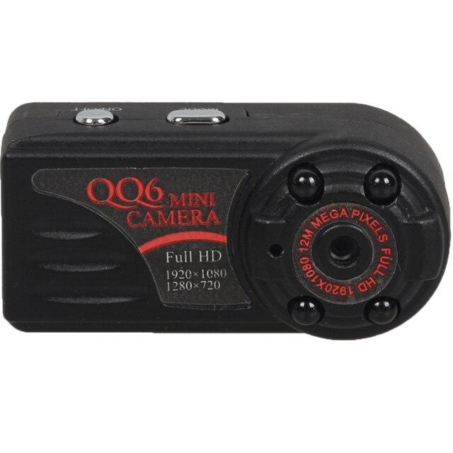 Full HD 1080 P 720 P Mini DV DVR Видеокамера ИК Ночного видение Motion Detect DVR QQ6 Маленький DV Y3000 PK MD80 Бесплатная доставка