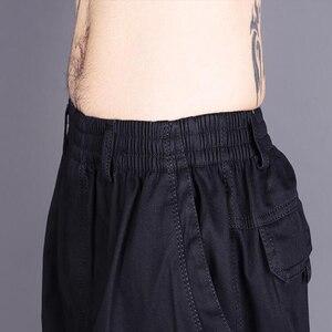 Image 5 - Bawełna mężczyźni joggersy cargo spodnie w pasie spodnie wojskowe moda męska luźne kombinezony na co dzień Plus rozmiar 3XL 4XL 5XL 6XL