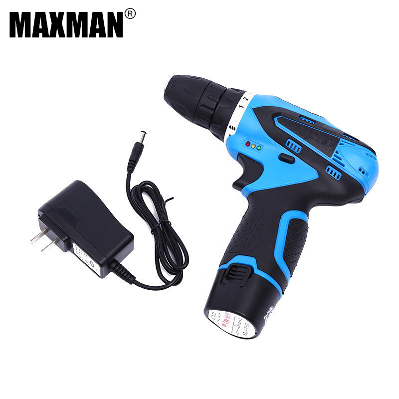 MAXMAN 12V Cordless Drill Single Speed DIY Lithium-Ion Battery Driver Power Dremel Electric Drill Electric Tool Woodwork Drill drill buddy cordless dust collector with laser level and bubble vial diy tool new