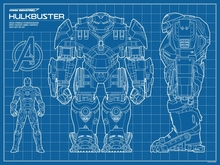 Compare prices on blueprint paper online shoppingbuy low price hulkbuster sketch blueprints sci fi science fiction retro vintage kraft poster decorative wall sticker home malvernweather Choice Image