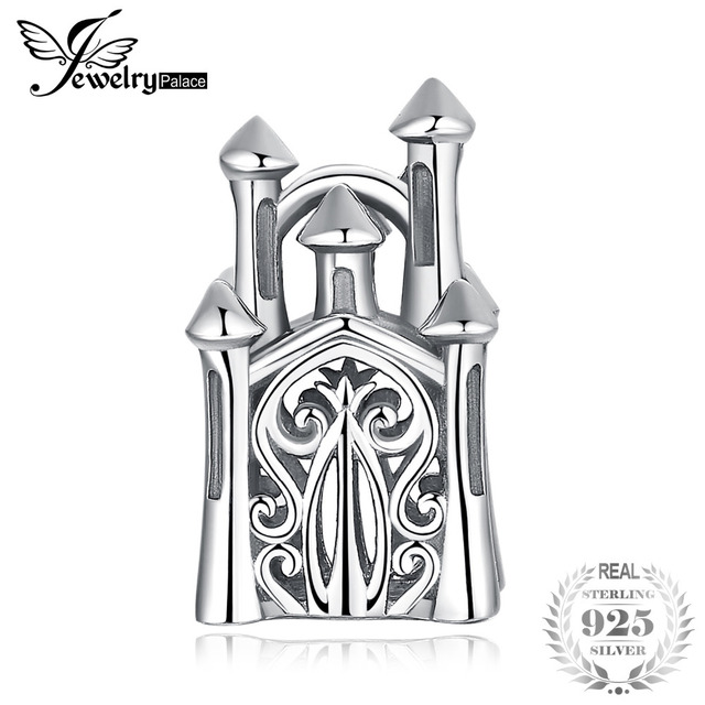 JewelryPalace 925 Sterling Silver Royalty Love Castle Charm Beads For Mother And Daughter 2018 New Hot Sale Beautiful Gifts