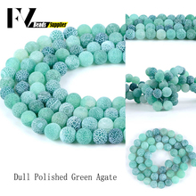 Natural Green Frost Agates Round Beads Diy Jewellery 4mm-12mm Semi Precious Stones Spacer Beads For Making Jewelry Accessories недорого