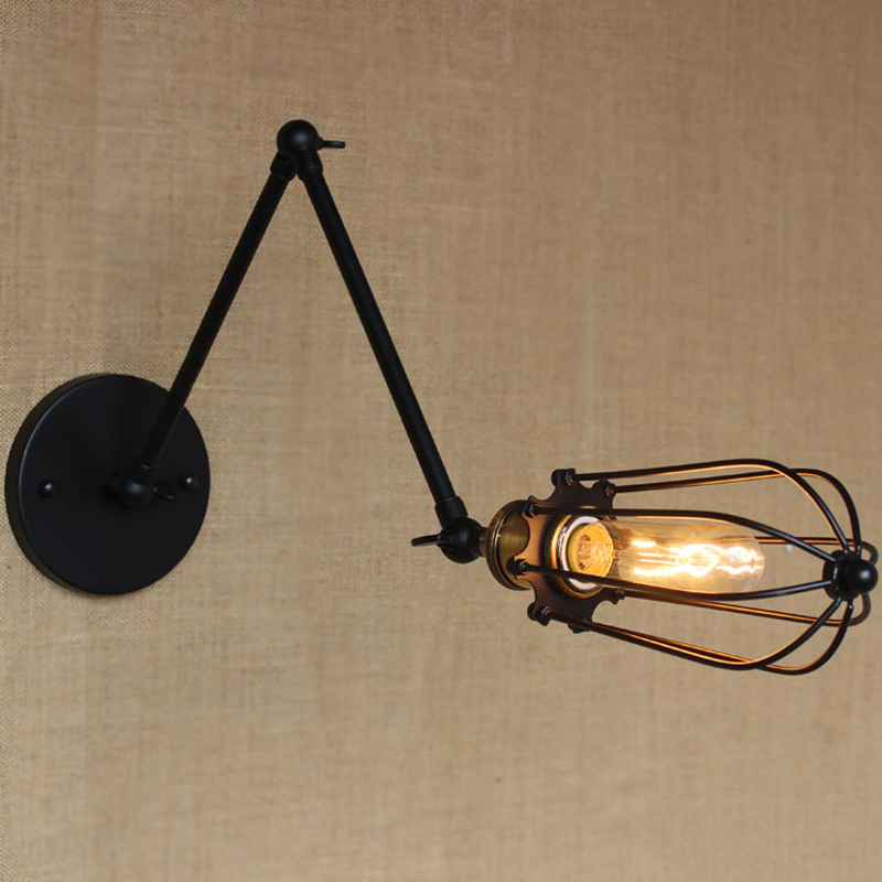 Free shipping Loft Industrial Vintage Wall Lamp E27 decoration Edison bulb Bedroom Bedside Mirror Modern Lighting home lighting