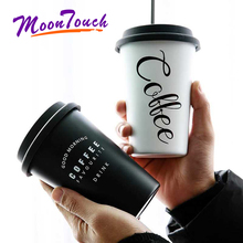 Stainless Steel Coffee Mugs Thickened Tea Cups Big Travel Mug Camping Cup With Lid Straws Drinkware
