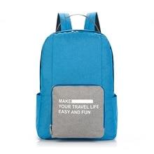 Reusable Folding Travel Backpack High Quality Waterproof Oxford Women Men Shoulder Bags