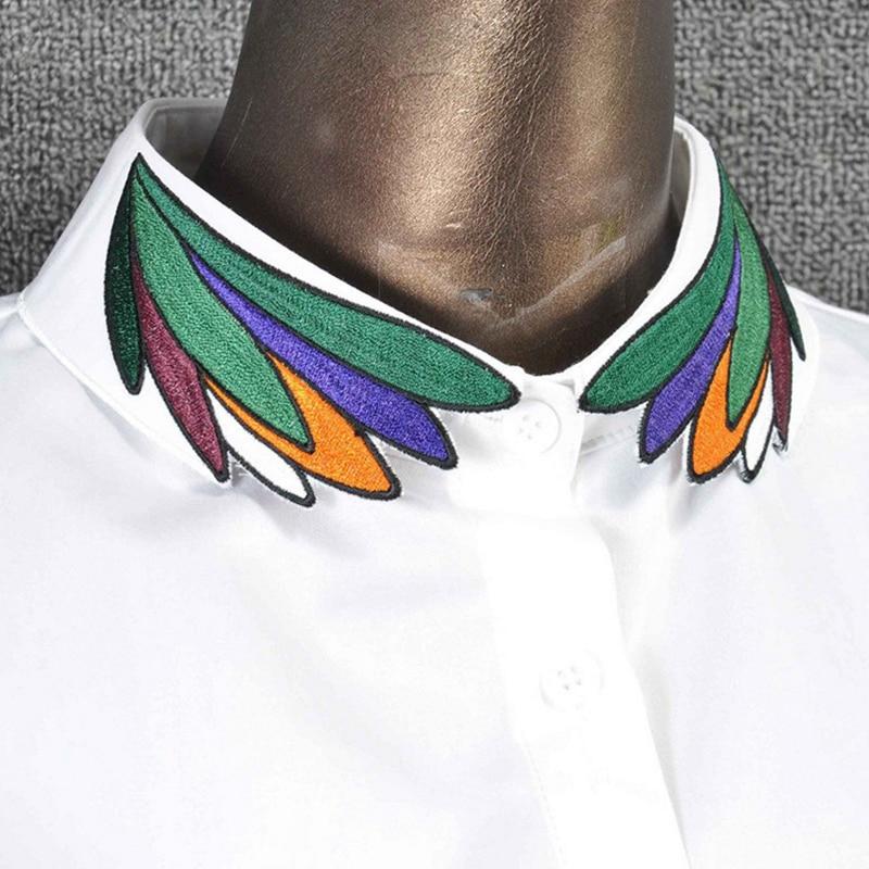 YSMILE Y Fashion Embroidery Detachable Collar Cotton Colorful Shirt Sweater Collar Female Remove Necklace Decoration Colllar