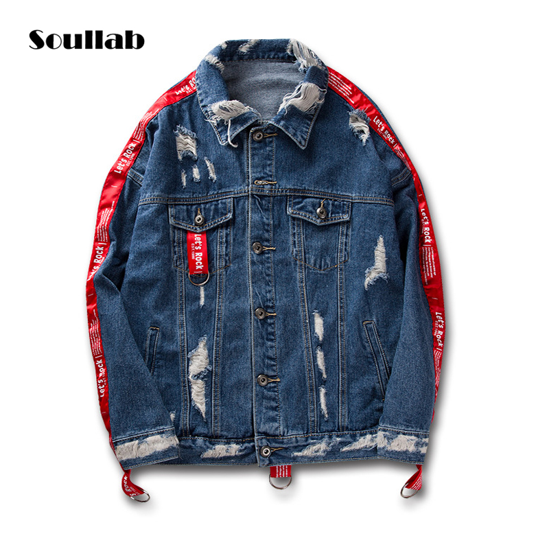 Soullab High Quality Men Top Belted Trench Fashion Designer Hip Hop Street Denim Korean Jacket Coat Swag Justin Bieber Clothes In Jackets From Men S Clothing On Aliexpress